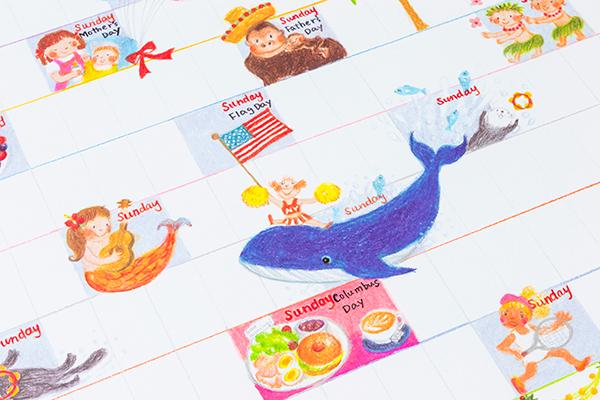 茂呂裕子イラストカレンダー2019
