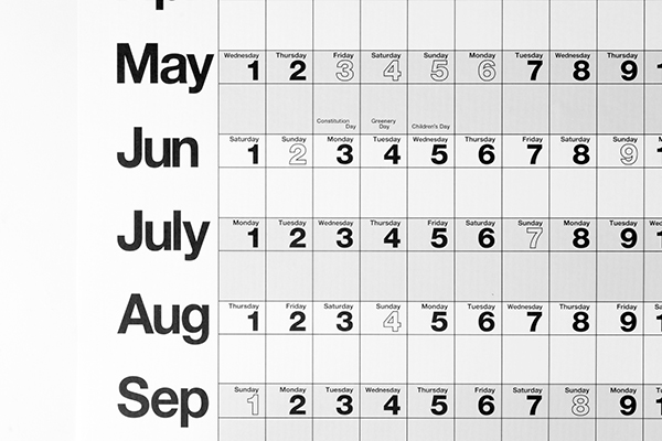 プランナーカレンダー2019